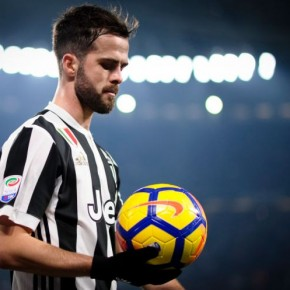 Miralem Pjanic of Juventus FC looks on during the Serie A